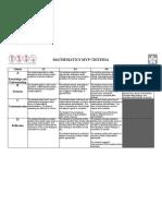 Mathematics Myp Criterion PDF