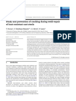 Study and Prevention of Cracking During Weld-repair