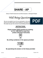 Well Being Questionnaire