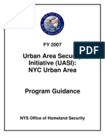Urban Areas Security Initiative (UASI) NYC Urban Area Program Guidance - NYC Office of Homeland Security