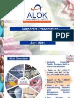 Alok Corporate Presentation April 2011 - Web
