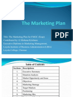 A Marketing Plan for FMCG (Soap)