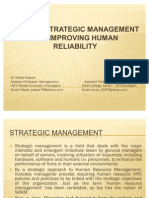 Role of Strategic Management for Improving Human Reliability