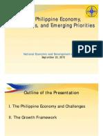 PH Economy Challenges Emerging Priorities