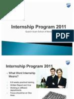Internship Program 2011