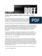 Gordon Duff of Veterans Today on Ron Paul - 2012