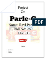 Project on Parle-G
