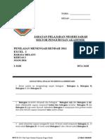 Percubaan PMR 2011 Sabah Bm K2