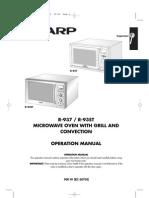 Sharp R937 Oven Manual