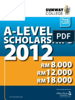 A-Level Scholarships Form 2012