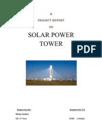 Seminar Ppt On Solar Updraft Tower Solar Energy Power