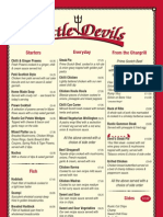 Little Devils Menu
