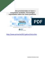 RESULTADOS ELECCIONES PRIMARIAS 14 DE AGOSTO DE 2011