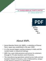 Kansai Nerolac Balance Sheet