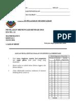 Percubaan PMR 2011 Sabah Math 2