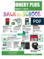 August Back to School Flyer - 2011