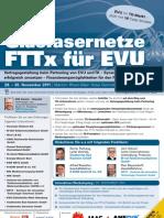 Glasfaser FTTX für EVU 2011