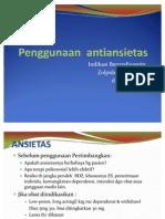 penggunaan antiansietas