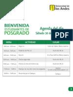 Agenda Bienvenida de Posgrados 2011-2 Agenda