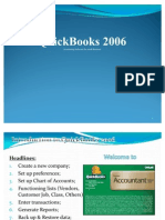 Introduction to Quick Books 2006 (for Trainee)