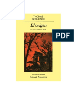 [eBook Spanish] Thomas Bernhard - El Origen