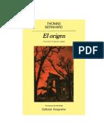 [eBook Spanish] Thomas Bernhard - El Origen