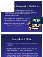 Power Point Guidelines