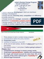 Pillars of Jordan's Nuclear Energy Program
