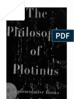 The Philosophy of Plotinus, Representative Books From the Enneads, Selected and Translated With an Introduction by Joseph Katz, 1950