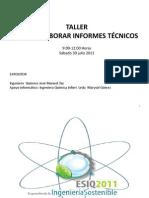 Taller Cómo elaborar Informes Técnicos