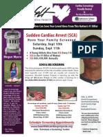 Cardiac Screening in Mission Viejo, CA -- Sat. & Sun. Sept. 10th & 11th