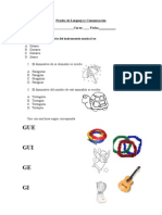 Prueba de Lenguaje y Comunicación letra g