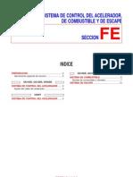 SISTEMA DE CONTROL DEL ACELERADOR, DE COMBUSTIBLE Y DE ESCAPE nissan primra p11
