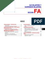 EJE DELANTERO Y SUSPENSION DELANTERA nissan primera p11