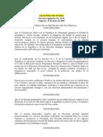 Ley de Educación Nacional y multilinguismo