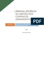 Resenha 3 - Eficiencia Na Gestao de Contratos Administrativos