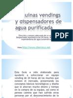 Maquinas Vendings de Agua Purificada y Maquina Expended or A de Garrafon en Michoacan Morelia