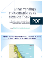 Maquinas Vendings de Agua Purificada y Maquina Expended or A de Garrafon en Veracruz