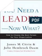 You Need a Leader--Now What? by James Citrin & Julie Daum - Excerpt