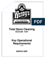 Kay Chemicals-Wendys Program
