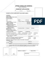 Philippines - Passport Application