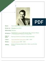 Biodata of P Ramlee