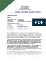 UT Dallas Syllabus for entp6370.0g1.11f taught by Jackie Kimzey (jxk092000)