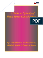 Spirality of Single Jersey Knitted Fabric