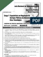 2004 Cespe Anatel Con Bas Especificos