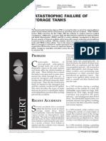 Catastrophic Failure of Storage Tanks