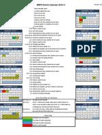 2010-11 District Calendar
