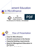 Management Education in Micro Finance
