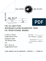 TN-D-3579 Use of Grit Type Boundary Layer Transition Trips on Wind Tunnel Models NASA