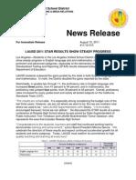 LAUSD STAR RESULTS PRESS RELEASE